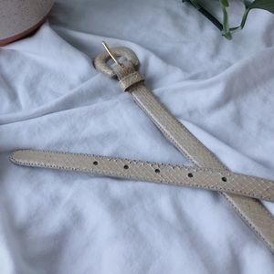 vintage snakeskin cream belt